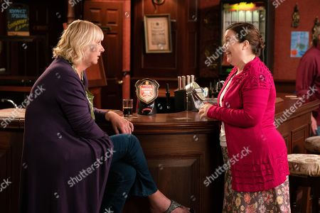 Ep 9868 Friday 6th September 2019 - 2nd Ep Mary Taylor, as played by Patti Clare, hands her key back to Eileen Grimshaw, as played by Sue Cleaver, and apologises for getting on her nerves. Having a change of heart, Eileen assures a thrilled Mary she's welcome for as long as she likes