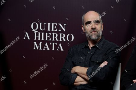 Luis Tosar reacts during an interview with Spanish international news Agency Efe in Madrid, Spain, 27 August 2019, on occasion of the presentation of Spanish filmmaker Paco Plaza's lastest film 'Quien a hierro mata'.