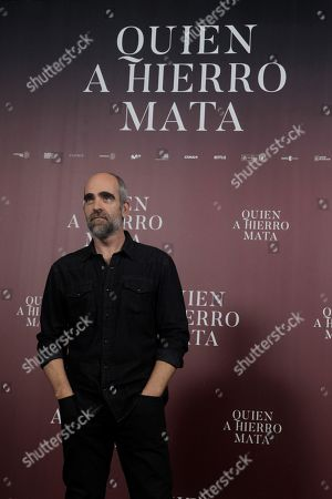 Luis Tosar poses during an interview with the Spanish international news Agency Efe in Madrid, Spain, 27 August 2019, on occasion of the presentation of Spanish filmmaker Paco Plaza's lastest film 'Quien a hierro mata'.