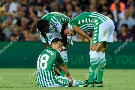 Emerson, Andres Guardado and Marc Bartra of Real Betis