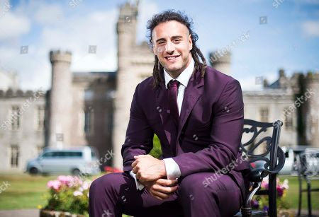 Stock Picture of Wales Rugby player Josh Navidi wearing a Timothy Everest suit at the Vale Resort, South Wales.