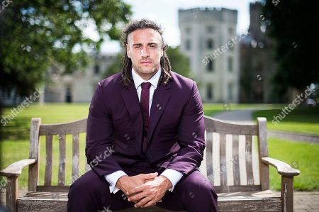 Wales Rugby player Josh Navidi wearing a Timothy Everest suit at the Vale Resort, South Wales.