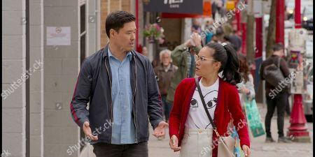 Stock Image of Randall Park as Marcus Kim and Ali Wong as Sasha Tran