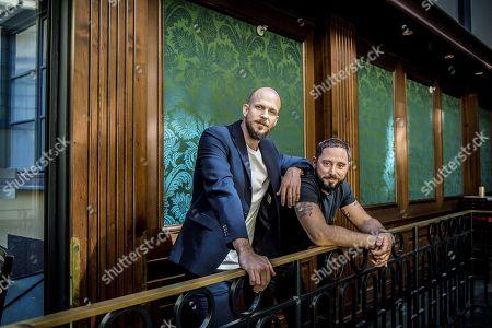 Swedish actors Gustaf Skarsgard and Matias Varela