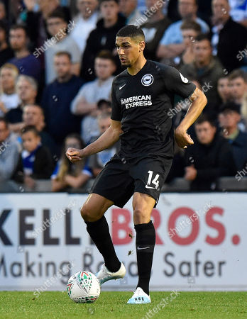 Leon Balogun (14) of Brighton and Hove Albion during the EFL Cup match between Bristol Rovers and Brighton and Hove Albion at the Memorial Stadium, Bristol