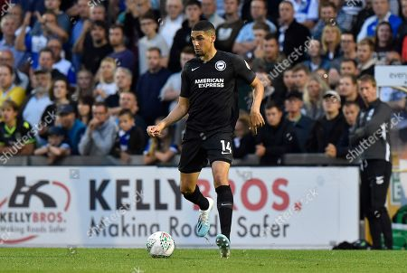 Stock Photo of Leon Balogun (14) of Brighton and Hove Albion during the EFL Cup match between Bristol Rovers and Brighton and Hove Albion at the Memorial Stadium, Bristol