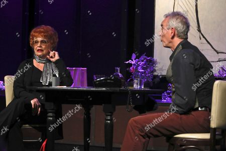 Stock Picture of Sandra Dickinson, as Lucille Ball and Lee Tannen, Playwright and co-star