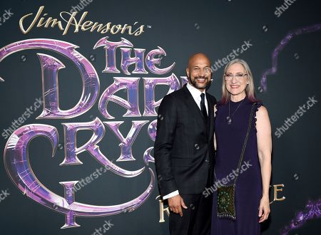 "Keegan-Michael Key, Lisa Henson. Actor Keegan-Michael Key, left, and executive producer, CEO and President of The Jim Henson Company, Lisa Henson, pose together at the premiere of Netflix's ""Dark Crystal: Age of Resistance"" at the Museum of the Moving Image, in New York"
