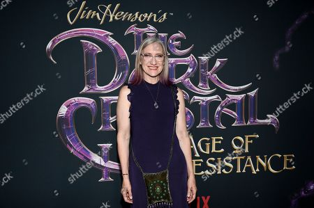 "Executive producer, CEO and President of The Jim Henson Company Lisa Henson attends the premiere of Netflix's ""Dark Crystal: Age of Resistance"" at the Museum of the Moving Image, in New York"