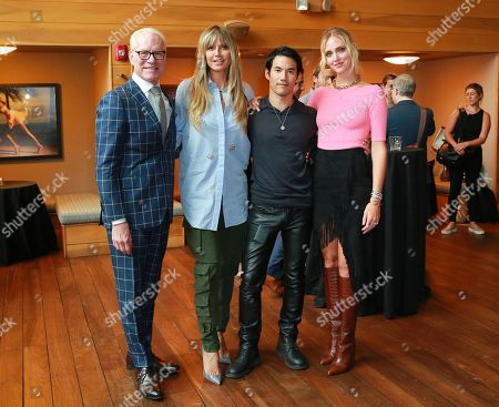 Tim Gunn, Heidi Klum, Joseph Altuzarra and Chiara Ferragni attend the Amazon Prime Video 'Making the Cut' mixer at Cachet Boutique Hotel in New York