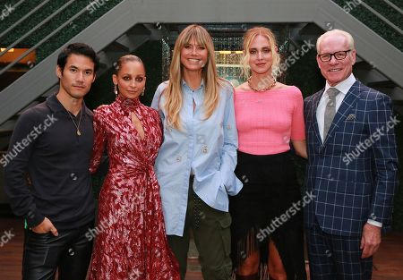 Joseph Altuzarra, Nicole Richie, Heidi Klum, Chiara Ferragni and Tim Gunn attend the Amazon Prime Video 'Making the Cut' mixer at Cachet Boutique Hotel in New York