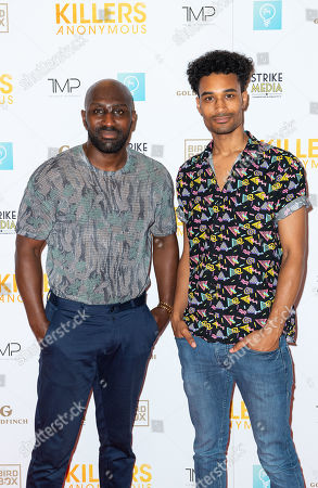 Stock Picture of Vauxhall Jermaine and son Reece Ayoola-Bensley