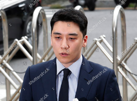 Lee Seung-hyun, a former member of the popular K-pop boy band Big Bang, speaks upon his arrival at the Seoul Metropolitan Police Agency's Intelligence Criminal Investigation Squad in Seoul, South Korea,. Police on Wednesday summoned Lee Seung-hyun on charges of gambling in a foreign country and securing gambling money in violation of the country's Foreign Exchange Transaction Act, Yonhap news agency reported