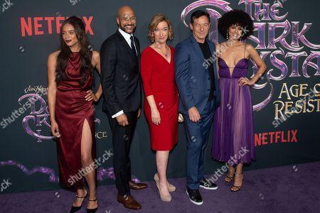 Stock Image of Hannah John-Kamen, Keegan-Michael Key, Donna Kimball, Jason Isaacs and Nathalie Emmanuel