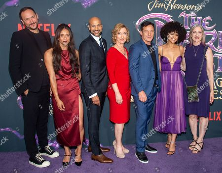 Stock Image of Louis Leterrier, Hannah John-Kamen, Keegan-Michael Key, Donna Kimball, Jason Isaacs, Nathalie Emmanuel and Lisa Henson