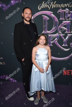 "Louis Leterrier and his daughter Mila attend the premiere of Netflix's ""Dark Crystal: Age of Resistance"" at the Museum of the Moving Image, in New York"