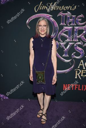 "Stock Picture of Executive producer and CEO of The Jim Henson Company Lisa Henson attends the premiere of Netflix's ""Dark Crystal: Age of Resistance"" at the Museum of the Moving Image, in New York"