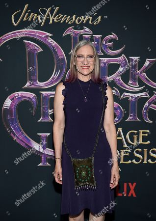"Executive producer and CEO of The Jim Henson Company Lisa Henson attends the premiere of Netflix's ""Dark Crystal: Age of Resistance"" at the Museum of the Moving Image, in New York"