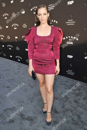 "Efrat Dor attends the LA premiere of ""Mayans M.C."" Season Two at ArcLight Cinemas - Hollywood, in Los Angeles"