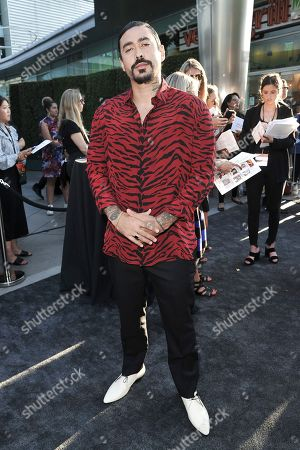 "Gino Vento attends the LA premiere of ""Mayans M.C."" Season Two at ArcLight Cinemas - Hollywood, in Los Angeles"