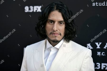 """Richard Cabral attends the LA premiere of """"Mayans M.C."""" Season 2 at ArcLight Cinemas - Hollywood, in Los Angeles"""