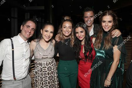 Stock Image of Santigo Michel, Miri Higareda, Marimar Vega, Martha Higareda, Billy Rovzar and Claudia Alvarez