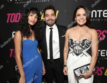 Andrea Chaparro, Omar Chaparro and Lucia Ruiz de la Pena