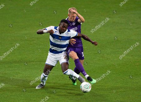 Bright Osayi-Samuel of QPR and Ross McCrorie of Portsmouth