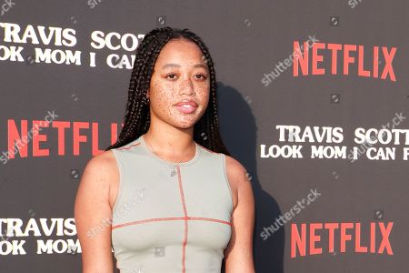Salem Mitchell attends the premiere of Netflix' Travis Scott: Look Mom I Can Fly at the Barker Hangar in Santa Monica, California, USA 27 August 2019. The movie traces the Houston rapper's rise to super-stardom, focusing on the months surrounding the release of his album ASTROWORLD and is opening in the US on Netflix 28 August 2019.