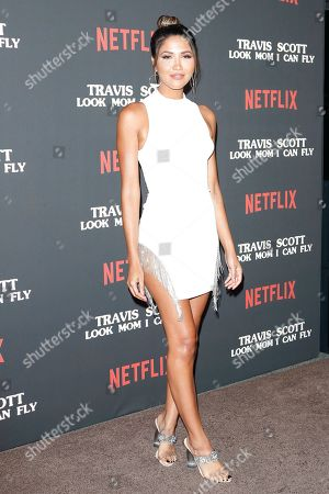 Stock Picture of CJ Franco attends the premiere of Netflix' Travis Scott: Look Mom I Can Fly at the Barker Hangar in Santa Monica, California, USA 27 August 2019. The movie traces the Houston rapper's rise to super-stardom, focusing on the months surrounding the release of his album ASTROWORLD and is opening in the US on Netflix 28 August 2019.