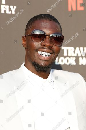 Sheck Wes attends the premiere of Netflix' Travis Scott: Look Mom I Can Fly at the Barker Hangar in Santa Monica, California, USA 27 August 2019. The movie traces the Houston rapper's rise to super-stardom, focusing on the months surrounding the release of his album ASTROWORLD and is opening in the US on Netflix 28 August 2019.