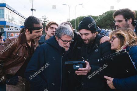 Alessandro Tedeschi as Mario Barbieri, Renato De Maria Director and Riccardo Scamarcio as Santo Russo
