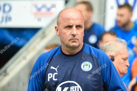 31st August  2019, DW Stadium, Wigan, England; Sky Bet Championship Football, Wigan Athletic vs Barnsley ; Paul Cook manager of Wigan Athletic Paul Cook manager of Wigan Athletic before kick off