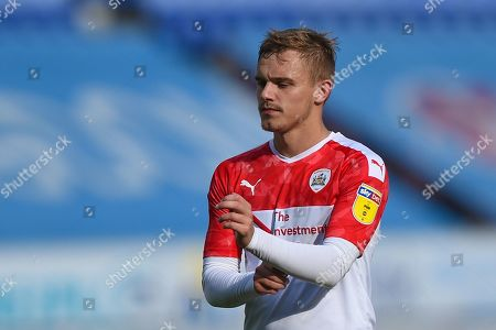 31st August  2019, DW Stadium, Wigan, England; Sky Bet Championship Football, Wigan Athletic vs Barnsley ; Luke Thomas (16) of Barnsley applauds fans after the game