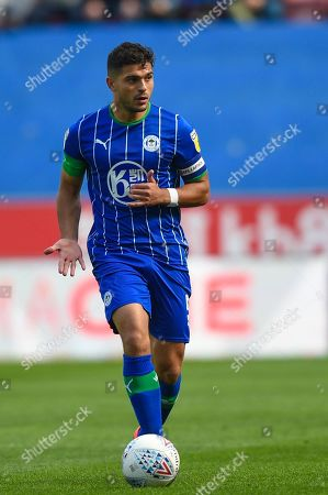 31st August  2019, DW Stadium, Wigan, England; Sky Bet Championship Football, Wigan Athletic vs Barnsley ; Sam Morsy (5) of Wigan Athletic in action during the game