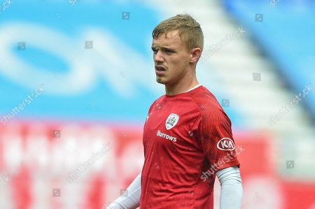 31st August  2019, DW Stadium, Wigan, England; Sky Bet Championship Football, Wigan Athletic vs Barnsley ; Luke Thomas (16) of Barnsley during the pre match warm up.