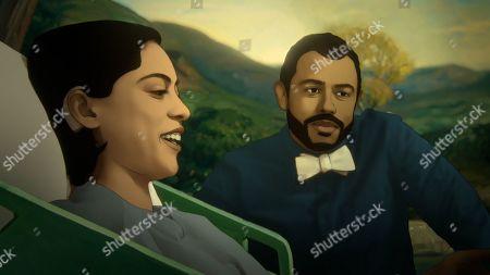 Rosa Salazar as Alma and Siddharth Dhananjay as Sam