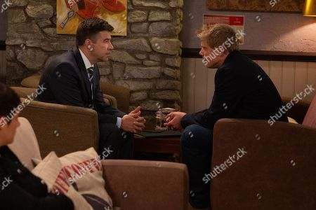 Ep 8585 Wednesday 4th September 2019 During his meeting with his solicitor, Robert Sugden, as played by Ryan Hawley, is shocked to be told to plead guilty and he makes it clear that he will not.