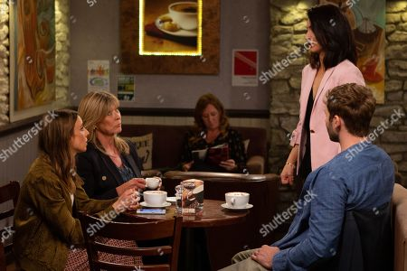 Ep 8584 Tuesday 3rd September 2019 Leyla Harding, as played by Rokhsaneh Ghawam-Shahidi, wonders what she's getting herself into as she interviews an enthusiastic Andrea Tate, as played by Anna Nightingale, for a job. With Kim Tate, as played by Claire King ; Jamie Tate, as played by Alexander Lincoln.