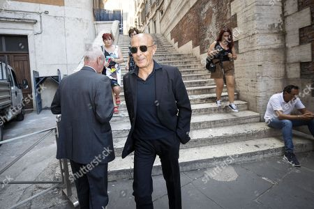Former Interior Minister and PD member Marco Minniti (C) arrives at the Lower House for a meeting of PD (Democratic Party) bigwigs, in Rome, Italy, 28 August 2019. The anti-establishment 5-Star Movement (M5S) and the centre-left Democratic Party (PD) on 23 August started talks on possibly forming a coalition government replacing the M5S's alliance with the nationalist League which League leader Matteo Salvini sank earlier this month.