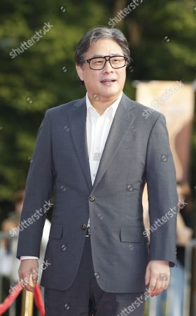 Park Chan-wook poses while arriving for the 2019 annual Seoul International Drama Awards at Kyunghee University in Seoul, South Korea, 28 August 2019. Seoul Drama Awards is an International TV drama festival. A total of 270 works have been submitted from 61 countries around the world.