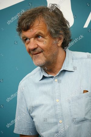 Emir Kusturica, jury President for the Luigi De Laurentiis Award for a Debut Film poses for photographers during a photo call at the 76th edition of the Venice Film Festival in Venice, Italy