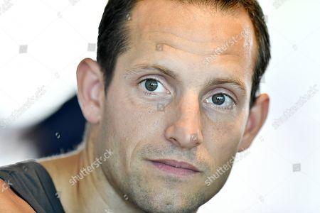 France pole vaulter Renaud Lavillenie attends a press conference of the IAAF Diamond League international athletics meeting in Zurich, Switzerland, 28 August 2019. The meeting takes place at the Letzigrund stadium on 29 August 2019.
