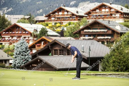Editorial photo of Pro-am golf tournament in Crans-Montana, Switzerland - 28 Aug 2019