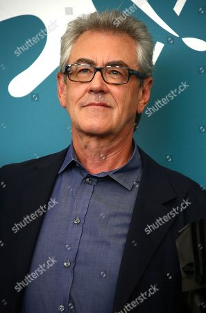 Jury member Piers Handling poses for photographers at the photo call for the jury at the 76th edition of the Venice Film Festival in Venice, Italy