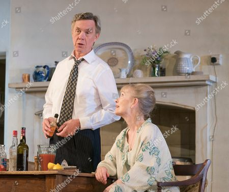 Stock Image of Alex Jennings as MP, Roben Hesketh, Lindsay Duncan as Diana Hesketh