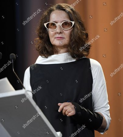 President of the 'Venezia 76' jury Argentinian filmmaker Lucrecia Martel, on stage during the opening ceremony and screening of 'La Verite'' at the 76th annual Venice International Film Festival, in Venice, Italy, 28 August 2019. The festival runs from 28 August to 07 September.