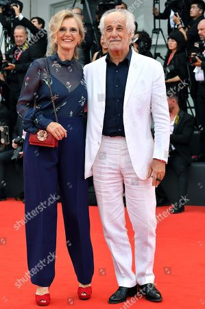 Toni Servillo (R) with his wife Manuela Lamanna arrive for the opening ceremony and screening of 'La Verite'' at the 76th annual Venice International Film Festival, in Venice, Italy, 28 August 2019. The festival runs from 28 August to 07 September.