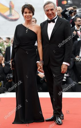 Stefania Rocca and Carlo Capasa, arrive for the opening ceremony and screening of 'La Verite'' at the 76th annual Venice International Film Festival, in Venice, Italy, 28 August 2019. The festival runs from 28 August to 07 September.