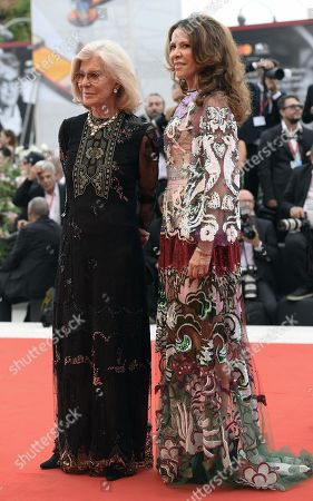 Marina Cicogna (L) and Benedetta Cicogna, arrive for the opening ceremony and screening of 'La Verite'' at the 76th annual Venice International Film Festival, in Venice, Italy, 28 August 2019. The festival runs from 28 August to 07 September.